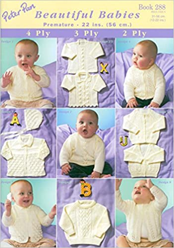 e9cae9c64 Peter Pan Knitting Pattern Book 288 (Beautiful Babies)  Amazon.co.uk ...
