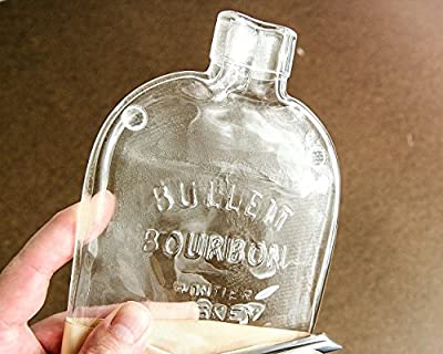 Bulleit Bourbon Whiskey Flattened Bottle Cheese Board with Cheese Spreader