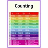 A3 early learning poster - Counting 1-100+ (supplied folded to A4, NOT laminated) ideal for classrooms, childminders, schools and nurseriesby 123 Web Art