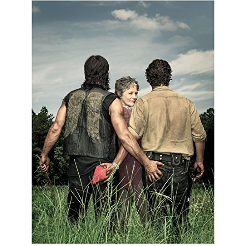 The Walking Dead Daryl and Rick with hands on each other's rears and Carol looking back 8 x 10 Inch Photo