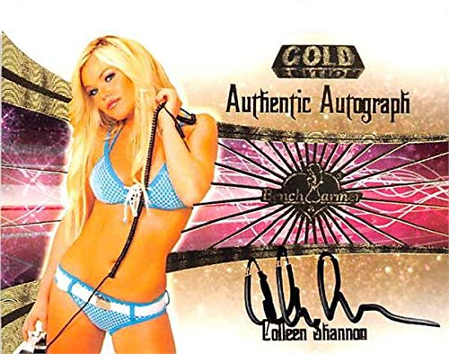 Colleen Shannon autographed trading card Benchwarmers Lingerie Bikini 2007#22 Authenticated Edition