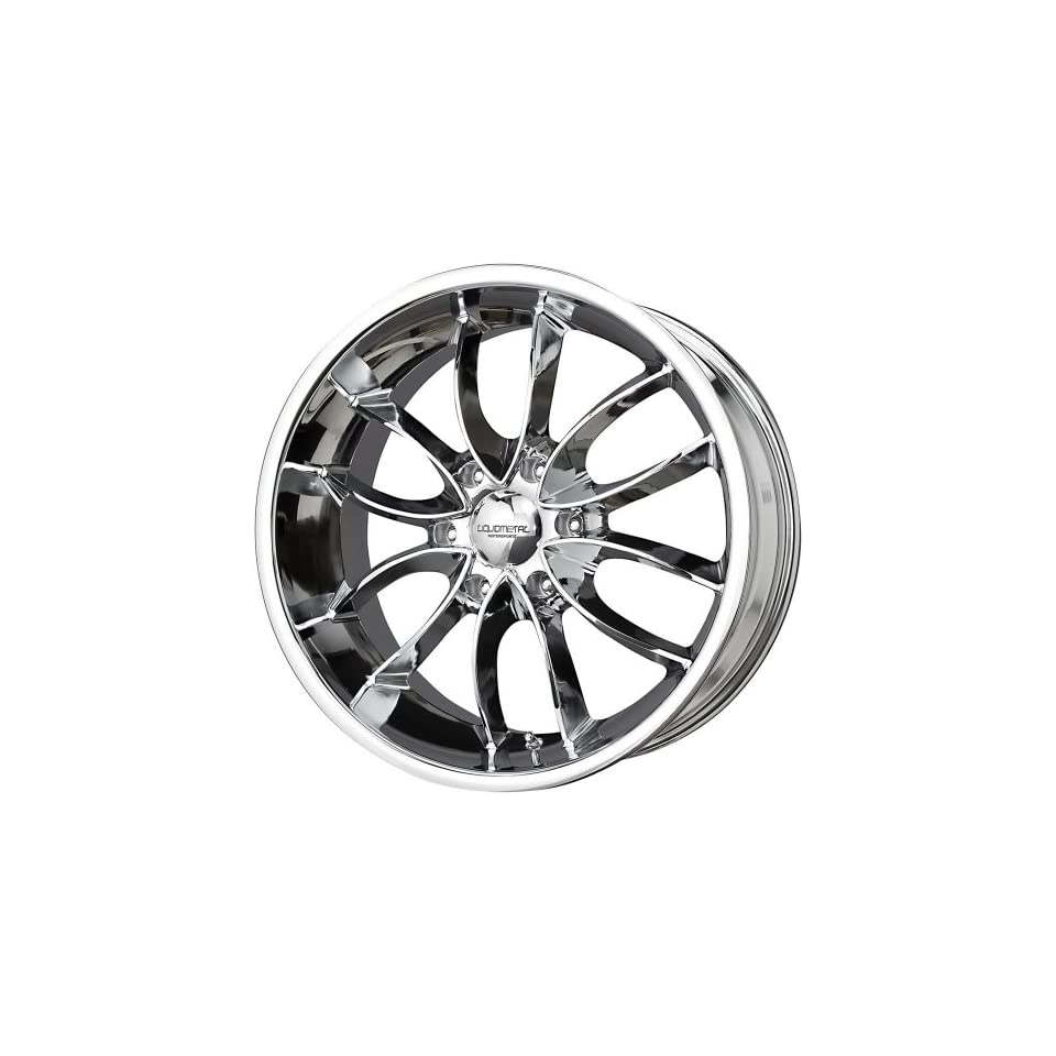Liquid Metal Wishbone 22 Chrome Wheel / Rim 6x135 with a 25mm Offset and a 87.1 Hub Bore. Partnumber 31 2236C