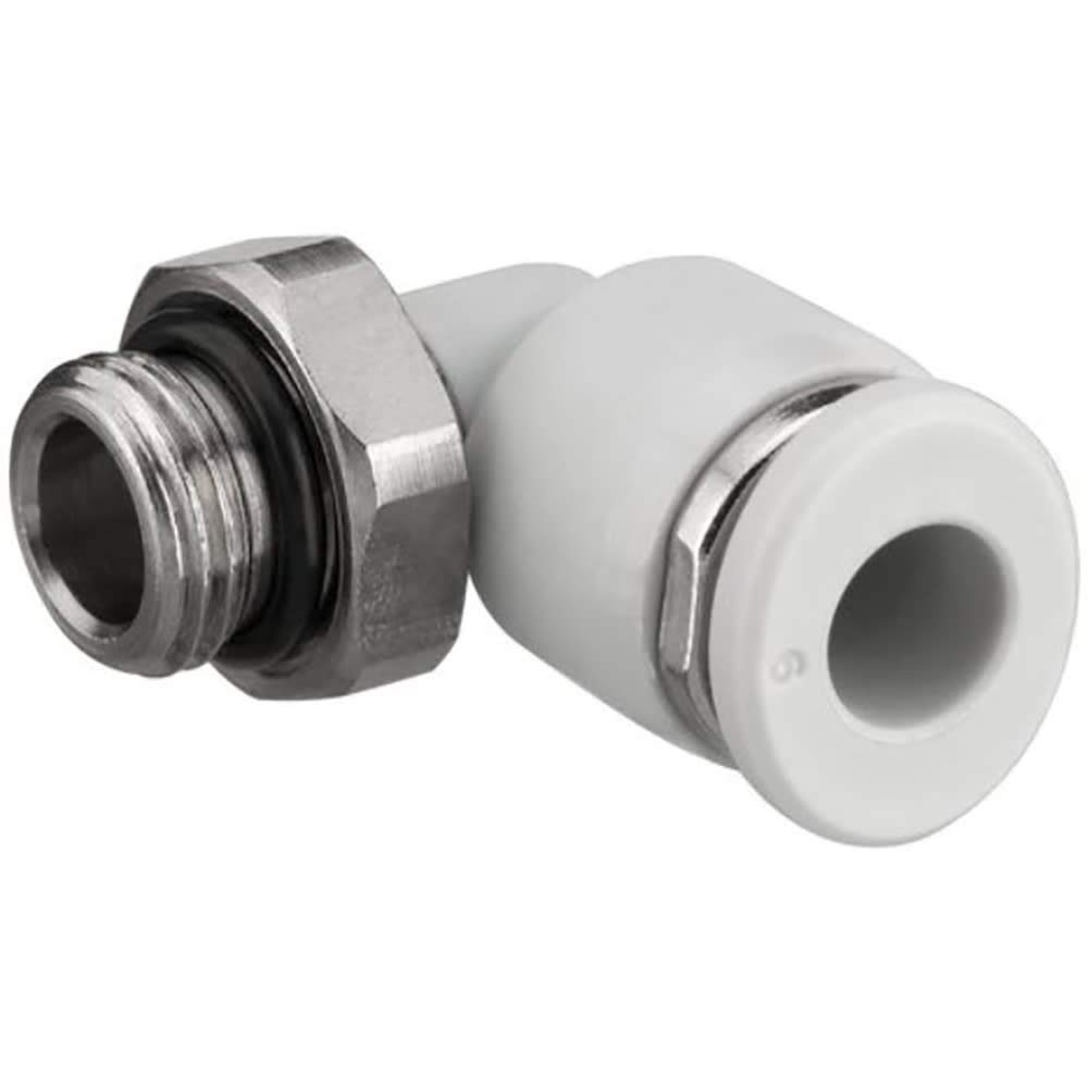 Fitting; QR1-RVT-D014-1032elbow1/4'' Tube to 10-32, Pack of 20