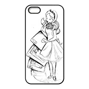 Hipster Alice in Wonderland Super Fit iPhone 4/4s Case Pattern Design Solid Rubber Customized Cover Case for iPhone 4 4s 4s-linda828