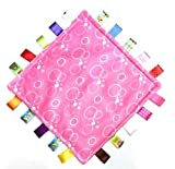 Comforting Generic Pink Bubbles Baby Blanket with satin Tags