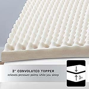 """Amazon Beautyrest 3"""" Convoluted Foam Mattress Topper"""