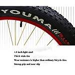 GASLIKE-Mountain-Bike-Hardtail-Bici-Cruiser-per-Pneumatici-Fat-con-Freno-a-Doppio-Disco-Telaio-in-Acciaio-ad-Alto-tenore-di-Carbonio-Bicicletta-con-Sedile-Regolabile