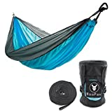 Roopax Double Pouch Camping Hammock- Easy Hanging Double Hammock with Tree Straps & Carabiners, 600lbs