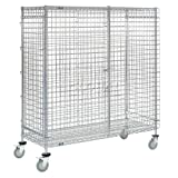 Wire Security Storage Truck with Brakes, 60 x 24 x 69, 1200 Lb. Cap.