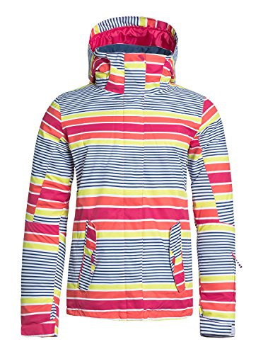 Roxy Womens Jetty Jacket, Sail Away Limeade, Medium