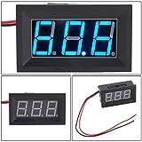LtrottedJ DC4.5-30V 2 Wire Blue LED Panel ,LED Display Voltage Meter Voltmeter