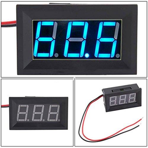 LtrottedJ DC4.5-30V 2 Wire Blue LED Panel ,LED Display Voltage Meter ()