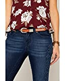 Shyanne Girls' Shyanne Girl's Ostrich Print Rhinestone Belt Brown 26