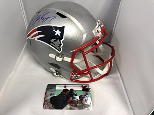Rob Gronkowski Autographed Signed Full Size Patriots Speed Revolution Helmet Gronk Exclusive Player Hologram (Signed Helmet)