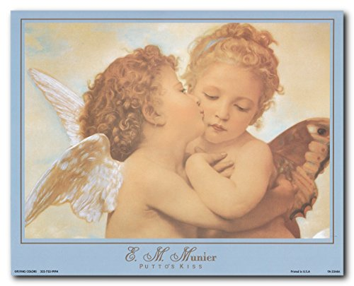 The First Kiss Wall Decor Picture William-Adolphe Bouguereau Art Print Poster (16x20)