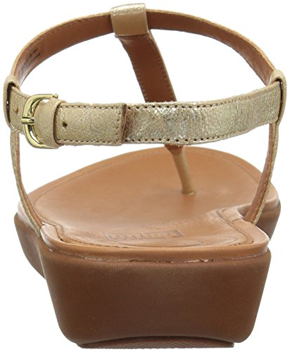 Tia Toe Gold Sandali thong leather pale 308 Punta Oro Sandals Aperta Fitflop Donna UpPxdwqd