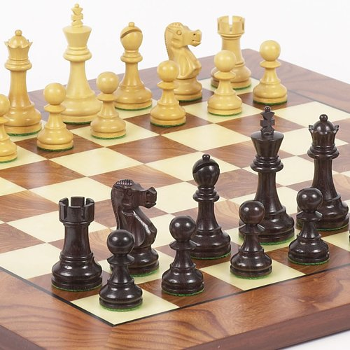 Prince Staunton Rosewood Chessmen & Agostino Luxury Chess Board from Italy ()