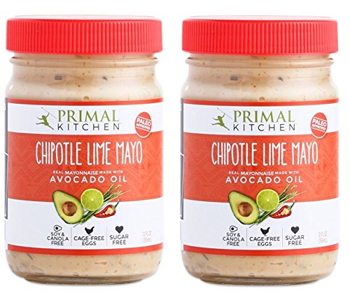 Primal Kitchen Avocado Oil Chipotle Lime Mayo, 12 OZ Jar - 2 Pack - (Gluten-Free, Paleo & Whole 30 & SCD Approved)