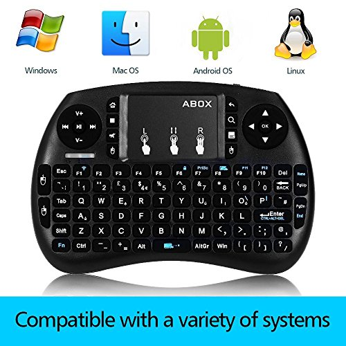 GooBang Doo 2.4GHz Multi-media Portable Wireless Handheld Mini Keyboard with Touchpad Mouse