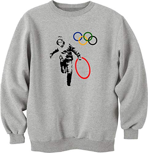 shirt Thief Olympic Pull Banksy Sweat Nothingtowear Ring Stealing Unisexe tqnw0