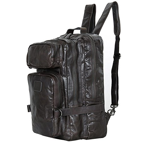 Berchirly Vintage Large Travel Leather Backpack Laptop Messe