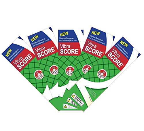 Vibra Score Tennis Scorekeeper and Vibration Dampener - 5 pack