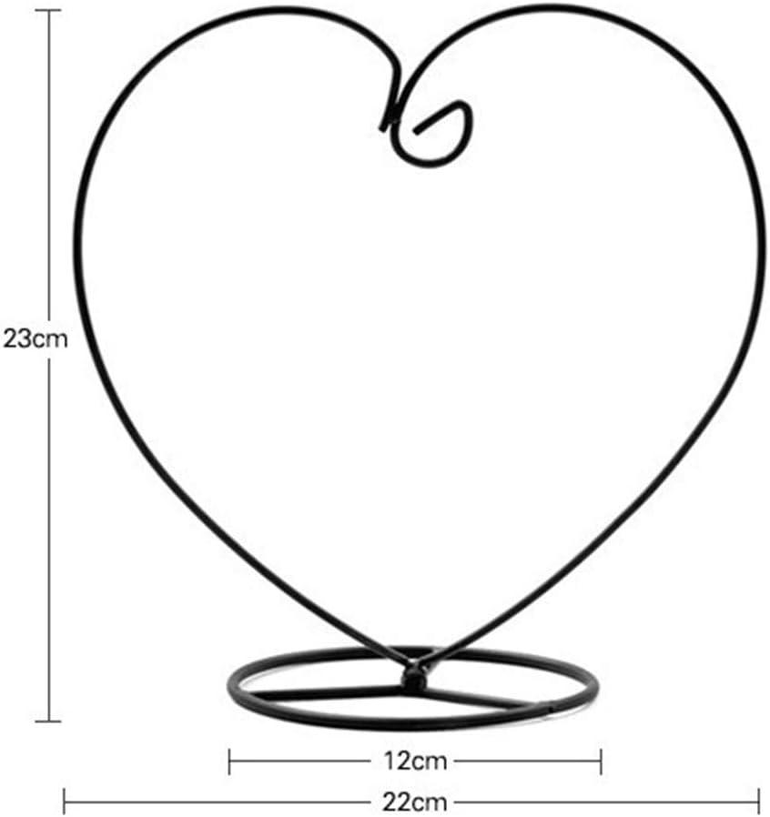 Vaset et Plantes Non Inclus BulzEU Support Fer en m/étal en Forme Coeur Amour pour Vase Boule Plante Pots /à Suspendre