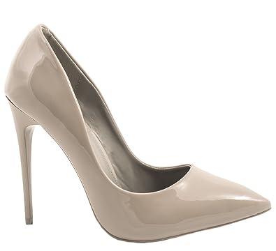 Damen Pumps Schuhe Elegant High Heels Bequeme Hellgrau 40 NXJjX21Nc