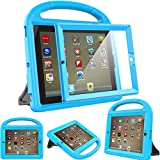 Surom Kids Case with Built-in Screen Protector for iPad 4, iPad 3 & iPad 2, Shockproof Convertible Handle Stand Case Cover for iPad 2nd 3rd 4th Generation - Blue