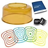 Nuwave Dome Replacement Best Deals - NuWave Oven Pro Plus & Elite Power Dome Replacement Cover - Unbreakable Shutter Resistant Amber PEI Plastic Accessory Part - Convection Yellow Top Lid Bundles with Cutting Mats and More Accessories