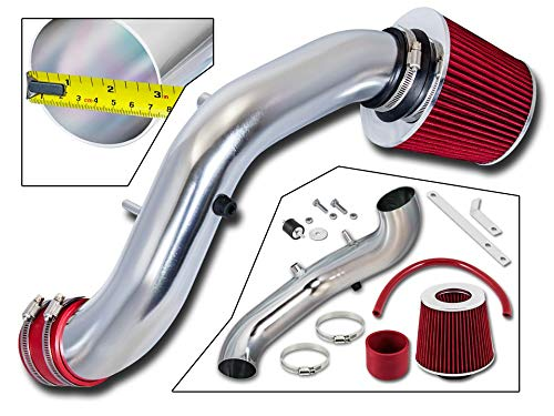 (Rtunes Racing Short Ram Air Intake Kit + Filter Combo RED For 02-06 Acura RSX Type)
