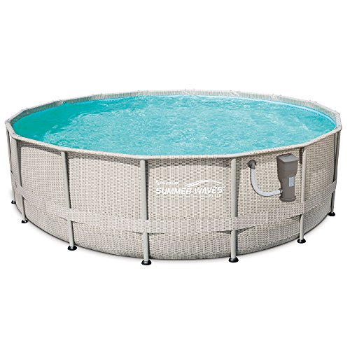 SUMMER WAVES 16-Foot x 48-Inch Elite Frame Swimming Pool Set