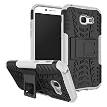 Samsung Galaxy A5 (2017) Shockproof Case, Galaxy A5 (2017) Hybrid Case, Dual Layer Shockproof Hybrid Rugged Case Hard Shell Cover with Kickstand for Samsung Galaxy A5 (2017) [White]