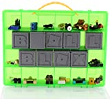 Roblox Carrying Case - Stores Dozens Of Figures- Durable Toy Storage Organizers By Life Made Better - Green