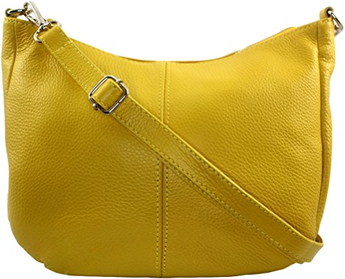 Italie bandouliere Sac Clair Cuir CHLOLY Jaune Mamamia IqOHR