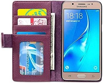 Cadorabo Funda Libro para Samsung Galaxy J5 2016 en Burdeos Violeta – Cubierta Proteccíon con Cierre Magnético e 3 Tarjeteros – Etui Case Cover Carcasa: Amazon.es: Electrónica