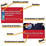 US Citizenship test civics flash cards for the