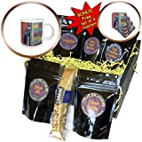 3dRose Susans Zoo Crew Animal - Colorful bird against colorful background - Coffee Gift Baskets - Coffee Gift Basket (cgb_294882_1)