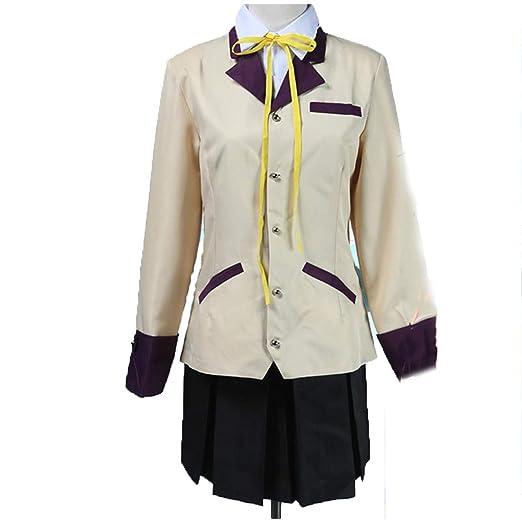 YKJ Disfraz de Cosplay de Anime Uniforme Escolar Top Falda Corta ...