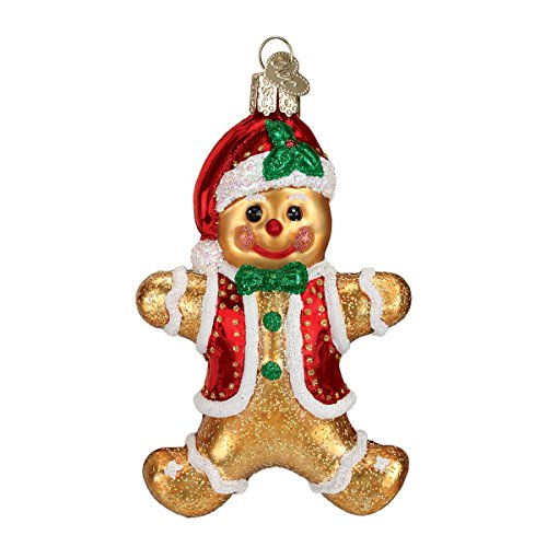 - Old World Christmas Ornaments: Gingerbread Boy Glass Blown Ornaments for Christmas Tree