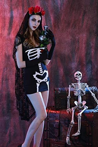 Yao Halloween Cosplay Uniforme Fiesta Fantasma Novia Vampiro Reina ...