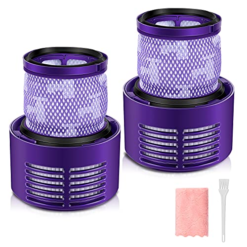 morpilot 2pcs Filter Replacements for Dyson V10, Vacuum Washable Filter Compatible with Dyson V10 Cyclone Series, V10 Absolute, V10 Animal, V10 Total Clean, SV12