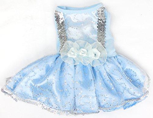 Pawpatu Cinderella Costume for Dogs, Small, Blue ()