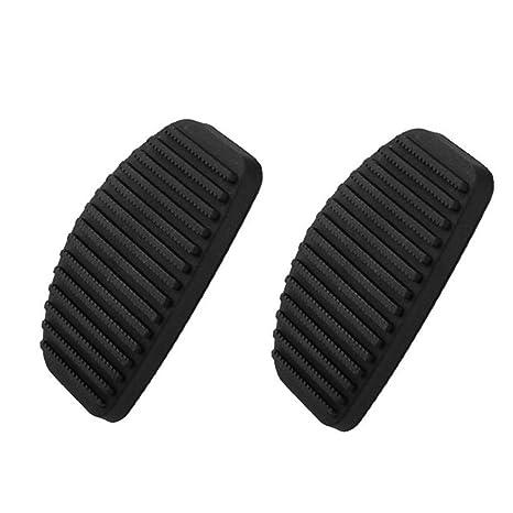 1 par de Embrague del Freno de Pedal Cubierta de Goma Negro Antideslizante Almohadilla de Repuesto