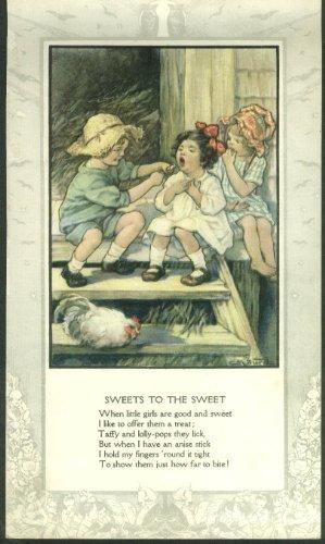 Nursery Rhyme Plate - Clara M Burd color plate: Sweets to the Sweet nursery rhyme ca 1930s