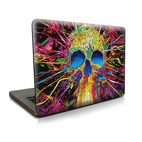 "SaferCCTV Plastic Skull Pattern Hard Case Cover for MacBook Air 13"" (A1466/A1369), Free with Screen Protector+Keyboard Cover+Touchpad Film+ Dust Plug"