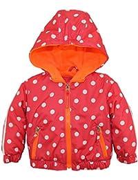 Pink Platinum baby-girls Baby Nb Polka Dot Active Jacket W/Fleece Lining