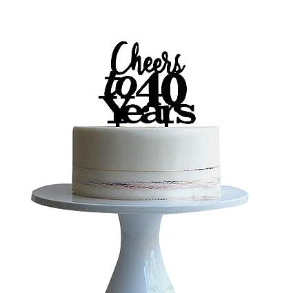 Decoración para tarta de 40 años para 40 años de amor ...