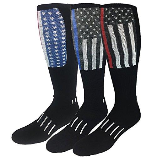 MOXY Sock America's Finest Deadlift Block Knee-High Dye-Sublimated Socks 3-Pack