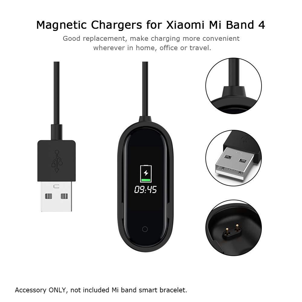 Docooler Cargadores magnéticos para Xiaomi Mi Band 4 Cargador Banda Inteligente Pulsera Cable de Carga Cargador USB Línea